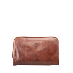 Personalised Raffaelle Luxury Leather Wash Bag
