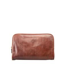 Personalised Raffaelle Luxury Leather Wash Bag