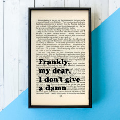 Gone With The Wind Movie Quote - Book Page print