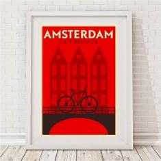 Vintage City Print - Amsterdam