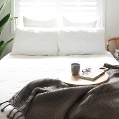 Belle Chunky Knit Throw - Grey