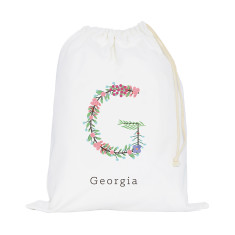 Personalised Floral Initial Storage Sack