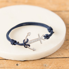 Men's Personalised Anchor Bracelet