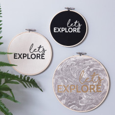 Personalised 'Let's Explore' Wall Art