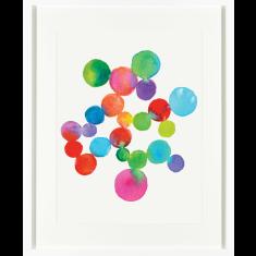 Candy spots watercolour print