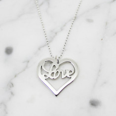 Heart of Love sterling silver necklace