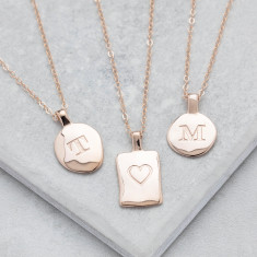 Personalised Rose Gold Initial Necklace