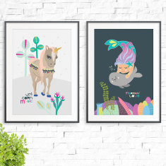 Unicorn Magic & Mermaid Love Prints (2 Pack)