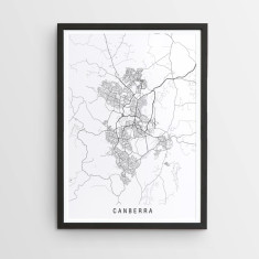 Canberra minimalist map print