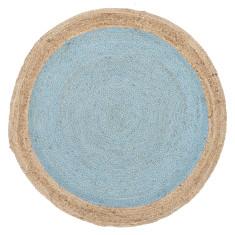 Nature Round Blue Rug