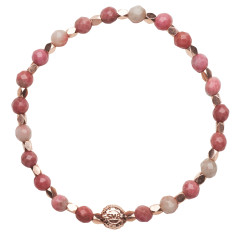 Signature bracelet in rhodonite