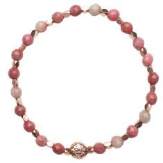 Signature bracelet in rhodonite