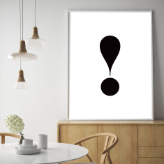 The exclamation mark art print (various sizes)