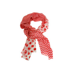 Cotton red scarf