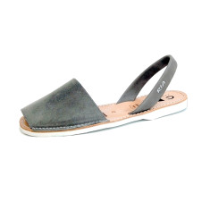 Men's Morell leather sandals in grey