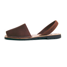 Morell leather sandals in chocolate brown