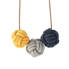 Quebec nautical knot necklace