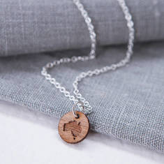 Personalised Map Charm Necklace