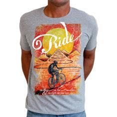 Ride until the sun sets men's t shirt