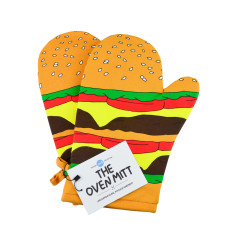 Woouf Kitchen Oven Mitt Burger (pack of 2)
