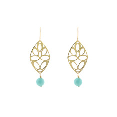 Green sea deco earrings