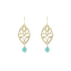 Green sea deco earrings