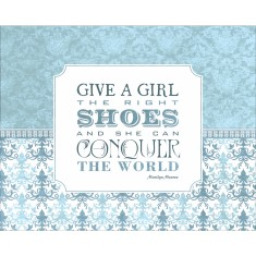 Marilyn Monroe shoe quote print