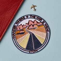 Embroidered Adhesive Travel Patch - Wander Where the Wifi is Weak