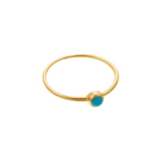 Turquoise whisper ring in gold vermeil