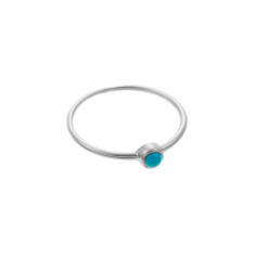 Turquoise whisper ring in sterling silver