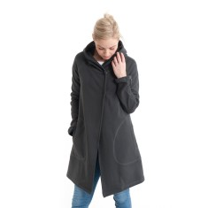 Hooded Duffle Jacket in Charcoal