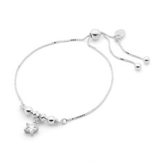Sterling silver cubic zirconia star friendship bracelet