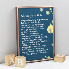 Wishes for a child godparent poem print