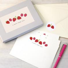 Personalised Strawberries Writing Set