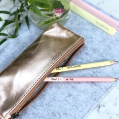 Personalised Metallic Pencil Case