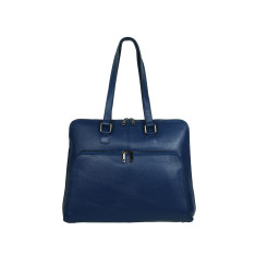Margaret Tote Italian leather bag in blue