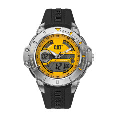 CAT 2016 Anadigit series watch in black and yellow