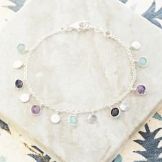 Sweetie Disc Charm Bracelet In Silver