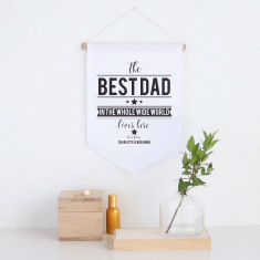 Best dad personalised pennant wall banner