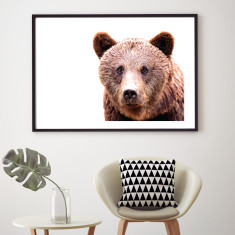 Brown bear art print (various sizes)