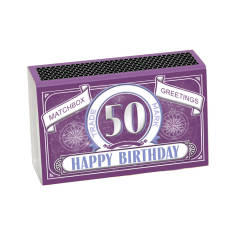 Milestone Happy Birthday Greeting In A Matchbox (50, 60, 70, 80 & 90)