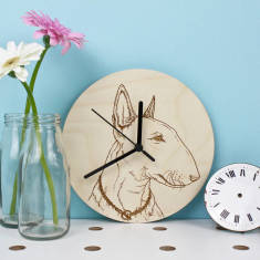 Bull Terrier Portrait Clock