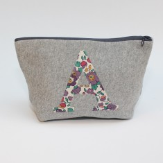 Liberty Print Initial Zip Pouch