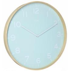 Eva Wooden SILENT SWEEP Wall Clock 51cm by Toki
