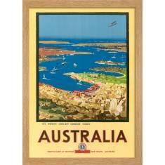 Sydney Harbour 1930 Print