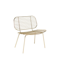 Metallic Racquet Easy Chair (Set of 2)