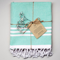Wategos Turkish Towel - Mint/White