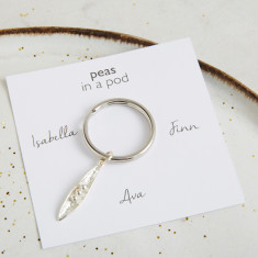 Personalised Peas In Pod Key Ring