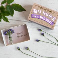 Best Teacher Miniature Handmade Bouquet Of Paper Roses