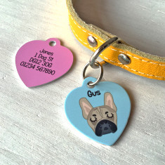Personalised Heart Dog ID Tag